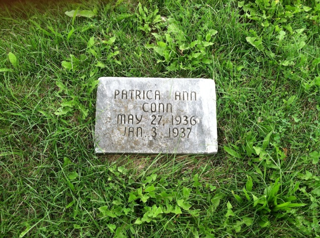 located at Crooked Creek Cemetery, Royal Center, Indiana